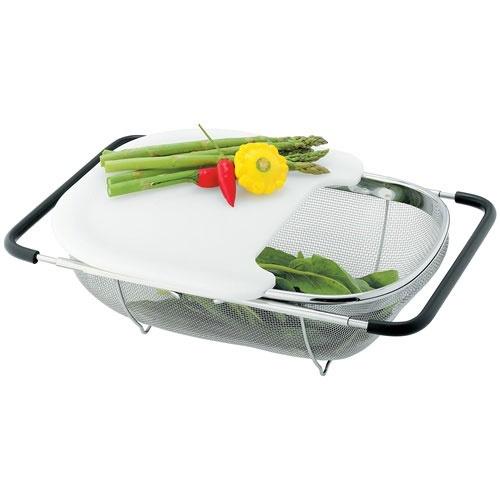 Avanti Extendable Sink Top Strainer w/ Chopping Board