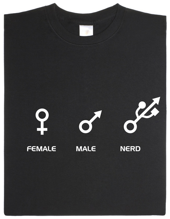 Nerd shirt there should also be geek cause there's a difference