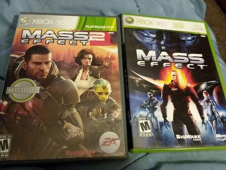 MASS EFFECT &  MASS EFFECT 2 - LOT OF 2 XBOX 360 GAMES Bioware