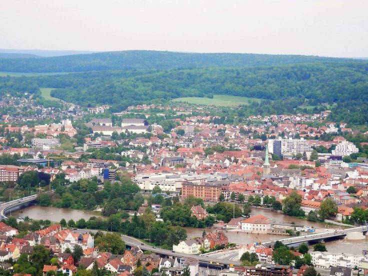A view of Hameln from the top of the Klüt