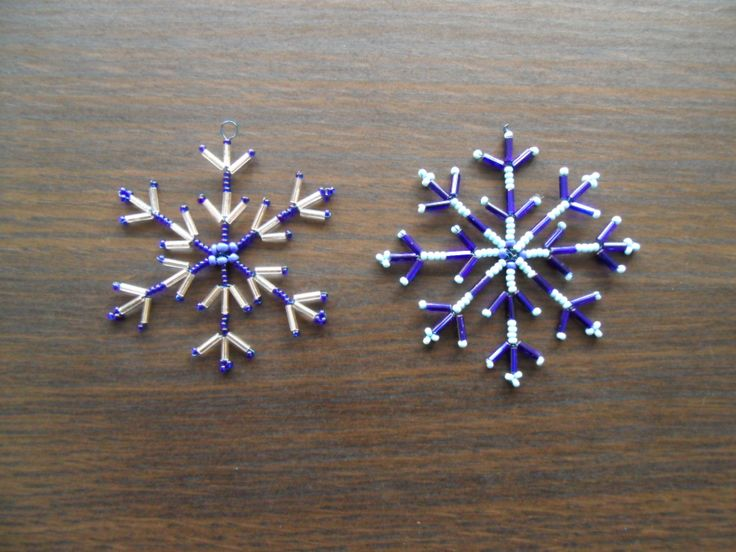 Free Beading Pattern: Beaded Wire Snowflakes featured in Sova-Enterprises.com Newsletter!