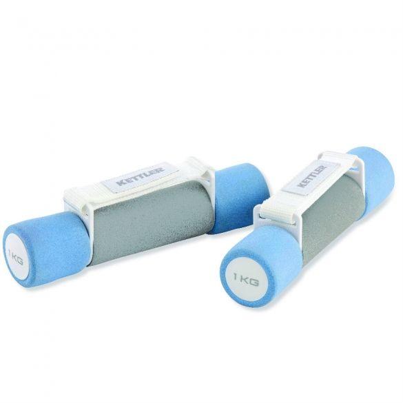 Kettler aerobic dumbells 2 x 10 kg  Description: De Kettler aerobic dumbells kunnen gebruikt worden bij snellere bewegingen omdat ze een polsband hebben zodat ze op hun plaats blijven. De verschillende gewichten zijn eenvoudig te herkennen omdat deze ook een verschillende kleur hebben; 05 kg - groen 1 kg - blauw en 2 kg - zwart.De aerobic dumbells zijn \\n per paar verkrijgbaar in de gewichten 05 kg 1 kg en 2kg.  Price: 21.95  Meer informatie