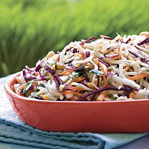 Our Best Barbecue Sides | Peanutty Coleslaw | SouthernLiving.com -- delicious with a little twist