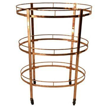 Check out this item at One Kings Lane! 3-Tier Copper Serving Trolley