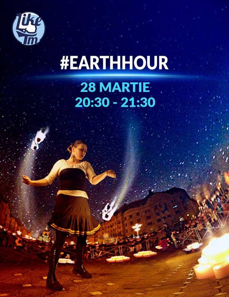 Post made for Like Timisoara community celebrating #Earthour in 2015 #ADwiser