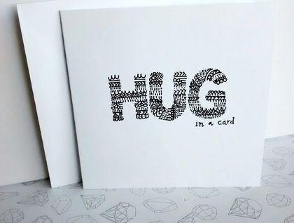 Hug in a card