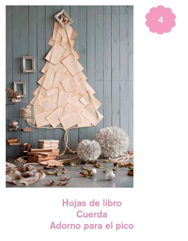 6 árboles de Navidad DIY | Decorar tu casa es facilisimo.com