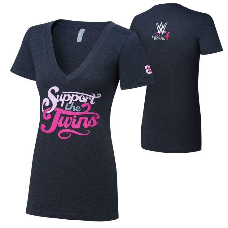 Women's #WWE #CourageConquerCure Bella Twins T-Shirt