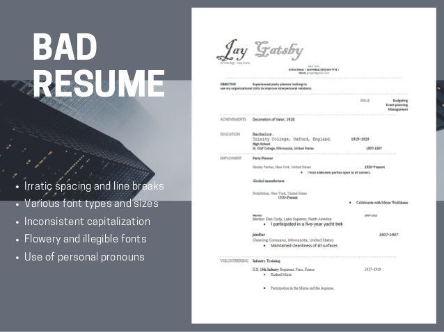 Image result for bad resumes Resume Samples Pinterest - good resumes