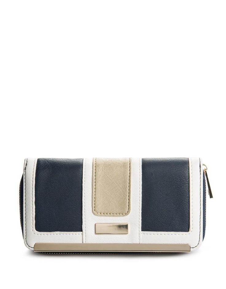 Colour Block Trim Purse