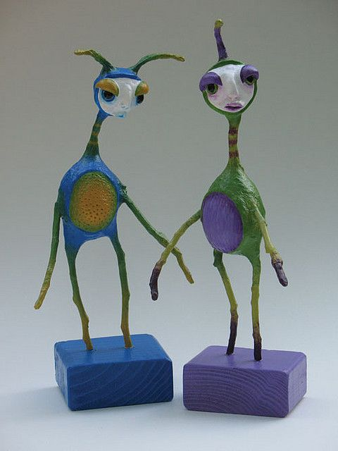 17 best images about paper m ch creatures on pinterest for Cool paper mache