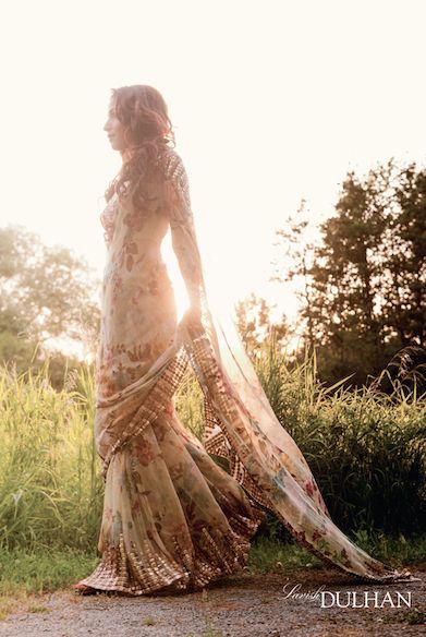 gorgeous floral sari.....