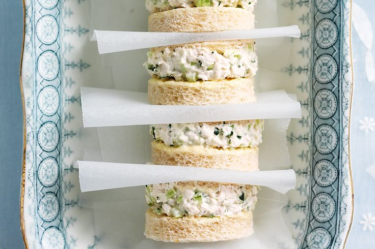 Chicken and Tarragon Sandwiches  Whip up these delicious high tea sandwiches in super fast time to create an elegant afternoon tea.
