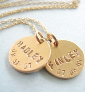 Gold Birthdate with one disc on 14kgf Rope Chain by onelifejewelry, $45.00