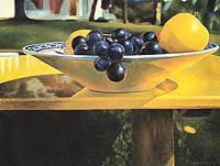 Mary Pratt,  Apples and Grapes