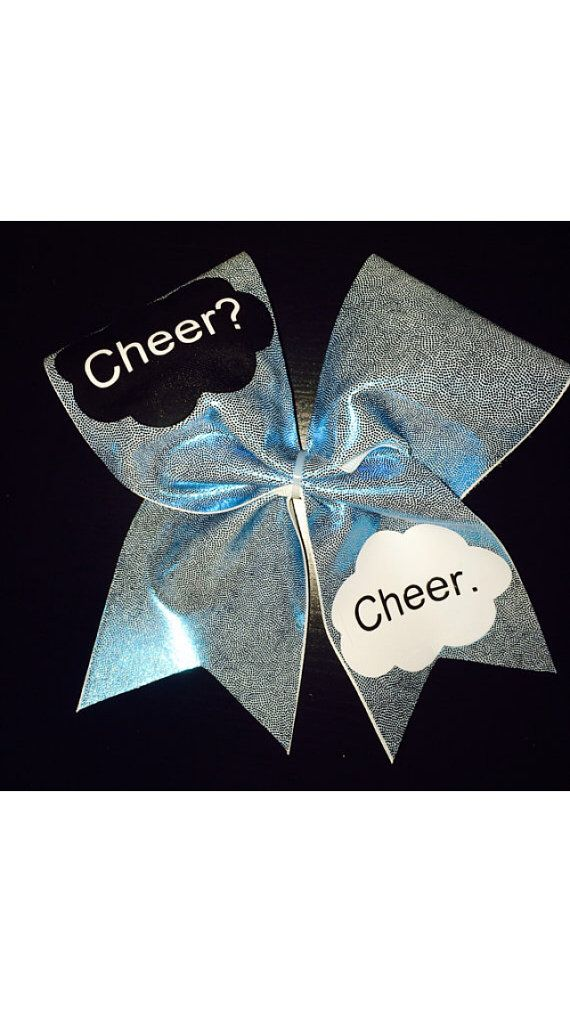 the fault in our stars cheer bow by BowsByBABZ on Etsy
