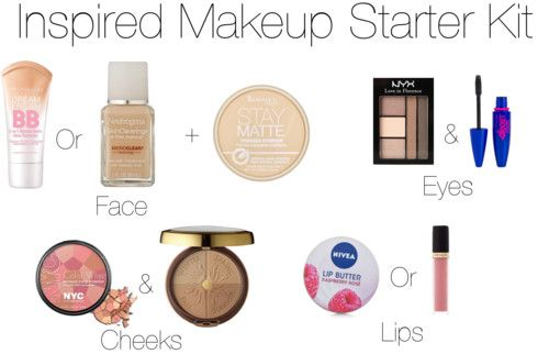 Drugstore Inspired Makeup Starter Kit by stilababe09style featuring maybelline eye makeup