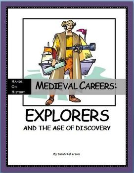 Medieval Careers - Explorers and the Age of Discovery Lesson Plan includes Marco Polo and Christopher Columbus. Informational Text, Activities, Review Games, Worksheet and Teacher's Key makes this lesson plan ready to go! No prep! GREAT RESOURCE FOR SUBSTITUTE TEACHERS!! NO PREP!! Grades 4-6 and homeschool.