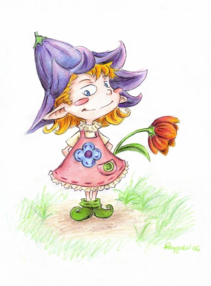 Little Tot, a smal girl :) in my Gallery on Deviantart.    Media : crayons