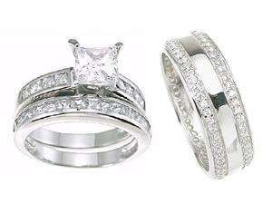 Cute wedding bands his and hers His and Hers Wedding Rings Bands Matching Set Womans Size