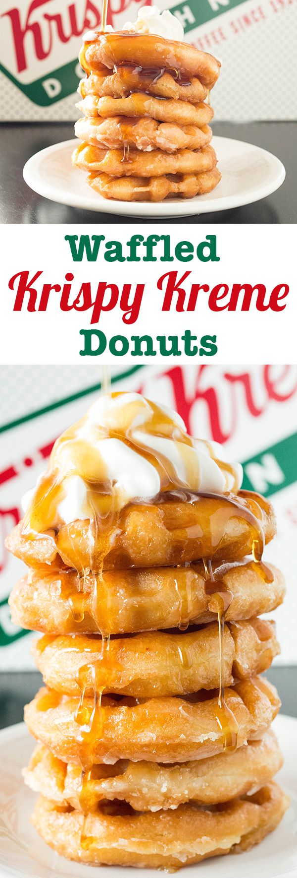 Use leftover Krispy Kreme to make donut waffles! Bring new life to stale donuts with this recipe.