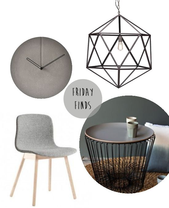 Finday Finds - Modern Industrial Interiors have the light , like the accessories