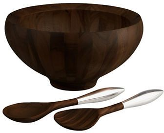 Nambe Yaro Salad Bowl and Servers Set
