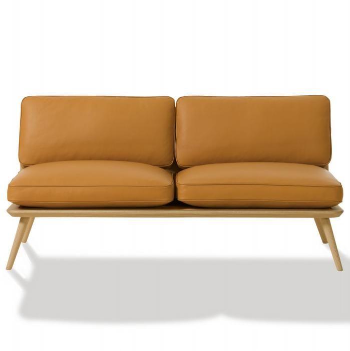 Spine lounge sofa, Space Copenhagen, Spine lounge sofa i gul/brun