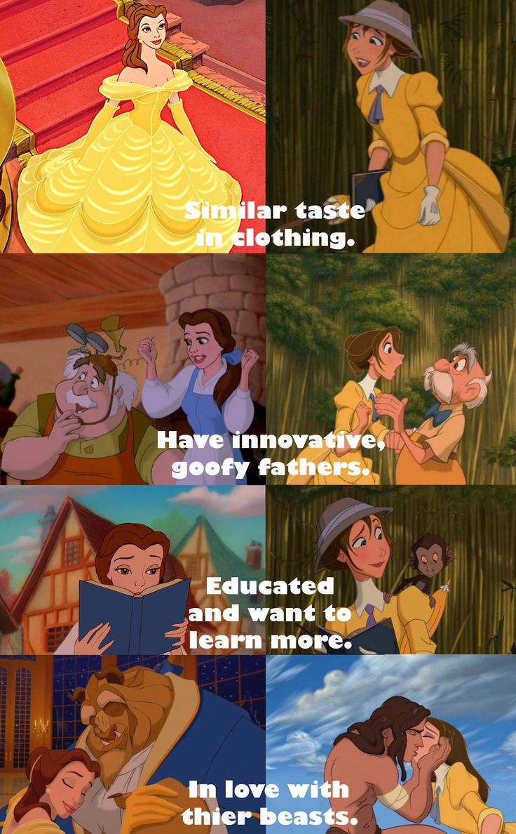 The similarities of Disney's Jane and Belle. Are they more than coincidence? and god people, its their