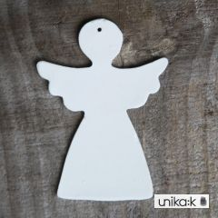 Esther Elisabeth Pedersen - Keramik julepynt engel (3 stk), hvid