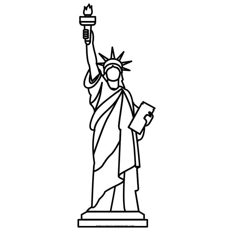 Resultado de imagen para estatua de la libertad para pintar facil ...