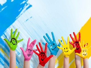 Kids Hands Smiles Drawing Happiness HD Wallpaper