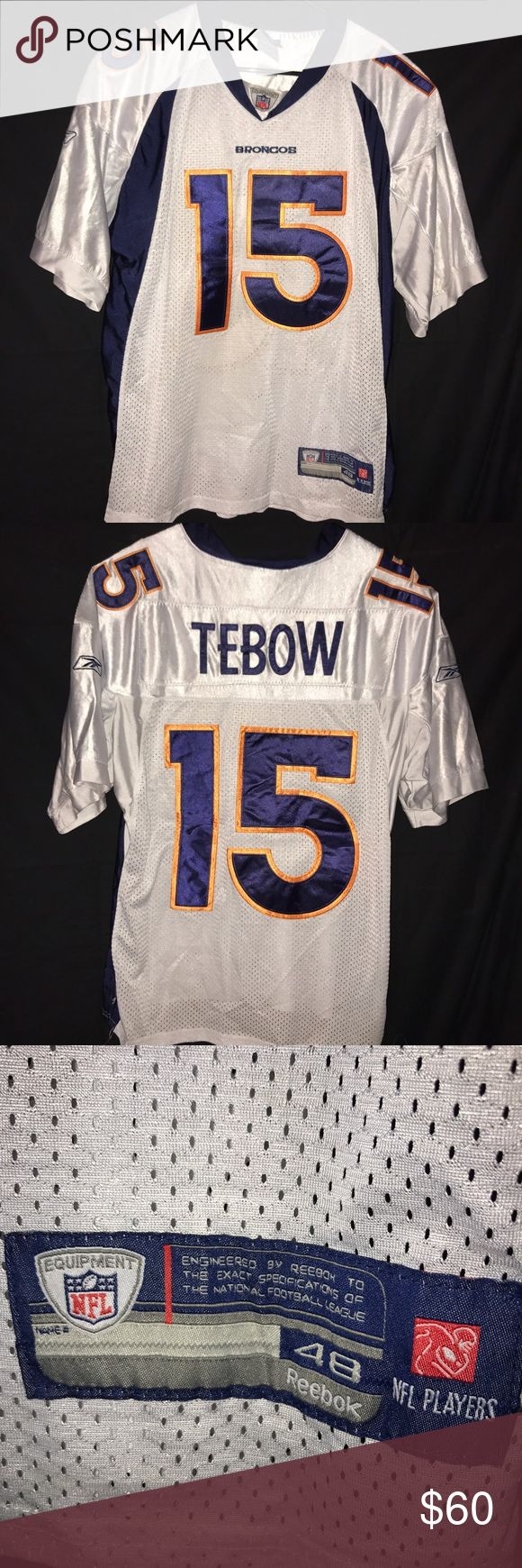 Tim Tebow Denver Broncos Jersey Men's Tim Tebow Denver Broncos Jersey. Size 48 (XL). No conditional issues. Jersey is in really nice condition and is stitched. All letters and numbers are good. Clean! Reebok Shirts