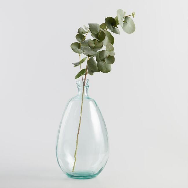 Faux Eucalyptus Spray In 2020 Small Glass Vases Glass Vases Centerpieces Glass Vase Decor