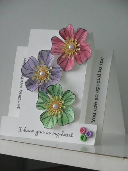 Flowers For A Friend by Victoria-Ladybug on Splitcoast Stampers Step Card Gallery - AWESOME!