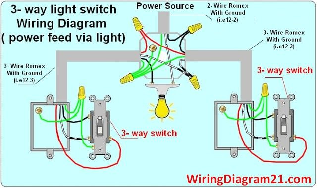 3 way light switch wiring diagram circuit electrical ...