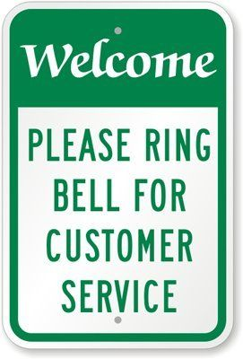 """Welcome, Please Ring Bell For Customer Service Sign, 18"""" x 12"""". #18""""X12"""", #MyDoorSign, #PleaseRingBellForCustomerServiceSign, #Welcome #ClientServices Buy Welcome, Please Ring Bell For Customer Service Sign, 18″ x 12″: Food Service Equipment & Supplies – ✓ FREE DELIVERY possible on eligible purchases Share this:FacebookPocketTumblrPinterestLinkedInRedditTwitterGoogleTelegramPrintEmail   Read the rest of this entry » http://clientservicesupport.com/"""