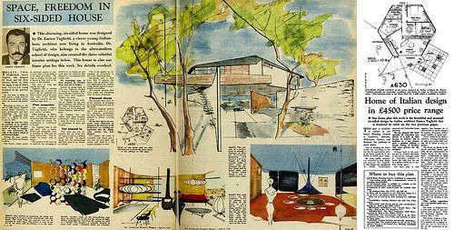 Six-Sided House - 1958 (Architect: Dr. Enrico Taglietti)