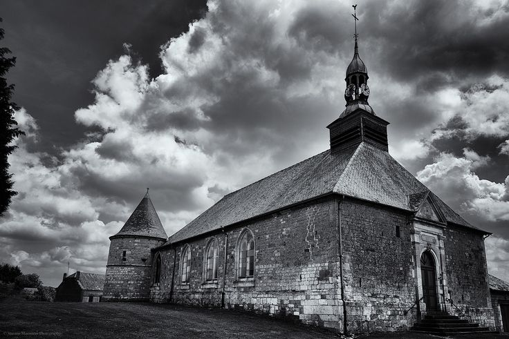Christian Church - A dominant church of a town in French countryside over 600 years old.