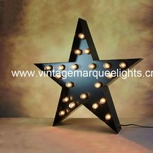 "Metal marquee lights (hot in 2015!)   1. Shape: A-Z, 0-9, any logo and design 2. Standard height size: 9"" 12"" 15"" 24"" 36"" 47""and 59"", width depends. 3. Material: iron plate, string lights, led/tungsten bulbs. 4. With 220V/110V electric powered or 2xAA battery powered.  5. Colour: rusty or painted any color. 6.Direct manufacturer, offer customized size, color, shape....   More http://www.wowork.com/vintage-marquee-lights.html"