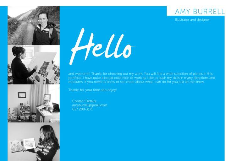 Amy Burrells portfolio website