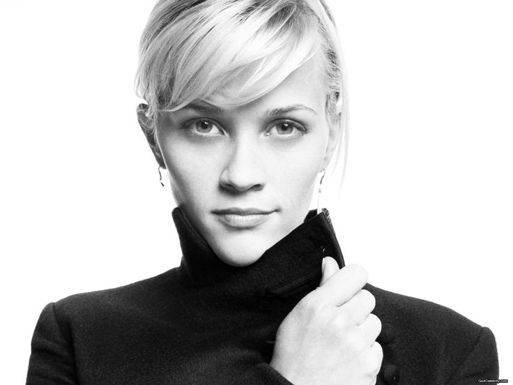 Reese Witherspoon - Heart: Forehead and cheekbones are wider than jaw line creating a prominent v-shaped chin.