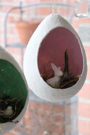 Fensterdeko Ostern: Bastelidee Für Klopapier Ostereier. Die Ostereier Aus  Klopapier Sind Eine Kreative Ostern