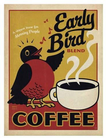 Vintage poster Love Coffee - Makes Me Happy