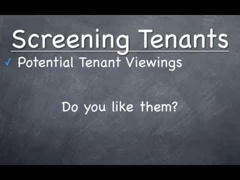 This 30 minute training session teaches new landlords tips to properly screen tenants, explains what questions to ask and how to complete reference checks.