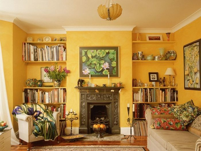 Желтые гостиные: 15 солнечных примеров – Вдохновение