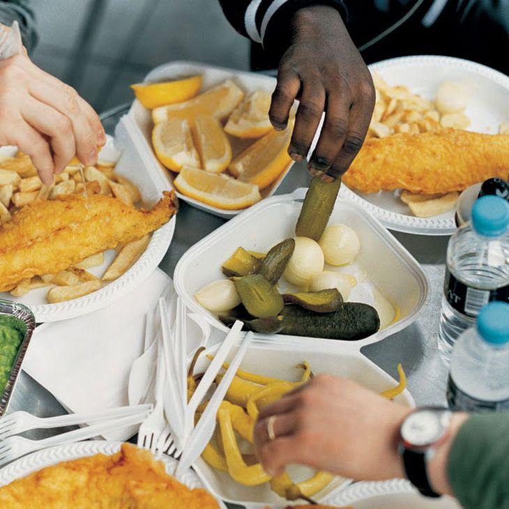 Fish, Chips & Mushy Peas Recipe Main Course with sunflower ...