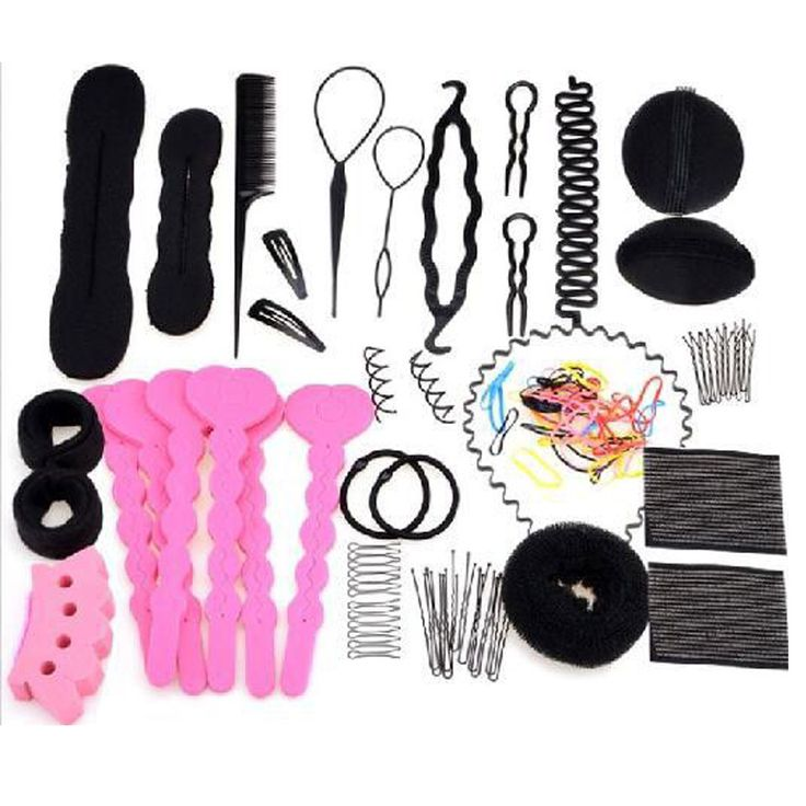 Hair ToolsTwist Magic Styling French Sponge Hair Braiders Clip Bun Maker Scrunchies Hair Bun Accessories FS2041