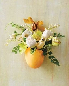 Easter Eggshell Basket   Martha Stewart