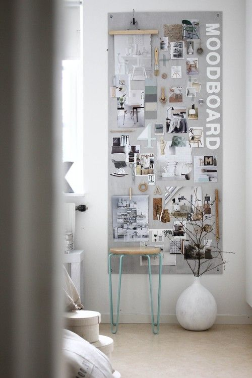 Create an inspiration or moodboard to guide you in your decor project